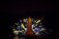 Арт-инсталляция на фонтане Золотой колос