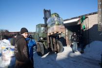 Ночные волки отправляют гуманитарный груз на Донбасс