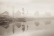 Туманное утро на Ладоге