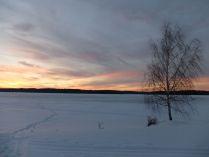Зимний вечер на Волге