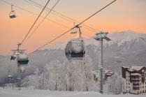 Утро на горнолыжном курорте