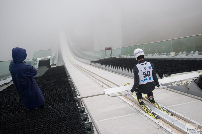 Спортсмен перед прыжком