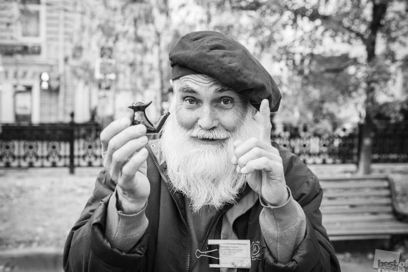 Продавец синих птичек счастья, Москва, Гоголевский бульвар