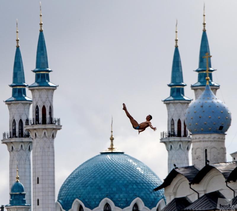 Финал соревнований по хай-дайвингу на ЧМ-2015 в Казани