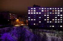 Фиолетовый снег