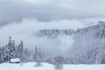 Домик в горах Кавказа