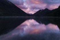Вечер на Нижнем Мультинском озере