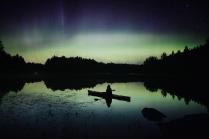 Полярное сияние на Ладожском озере