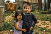 Дети в хакасской деревне