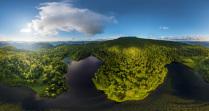 Над лесным озером, гора Шпамберг