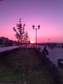 Казань. Набережная на закате