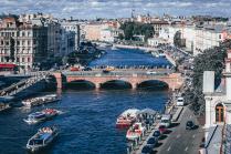 Летний вид на прекрасный Санкт-Петербург