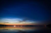 Серебристые облака над озером Чебаркуль