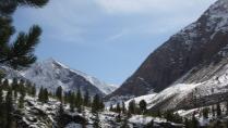 зимний пейзаж долины шумак