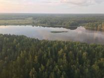 Вид на Вуоксу с вертолёта