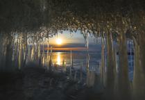 Утро в марте на Байкале