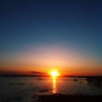 Закат над разливом
