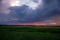 Закатное небо Подмосковья