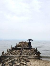 Пирс ГУЛАГ в местности Песчаное, остров Ольхон.