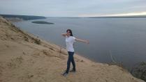 На вершине песчаных дюн Якутии