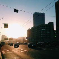 солнце в городе