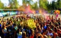Фестиваль красок холи. Буйство красок.