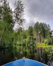 Синяя лодка на Черной речке