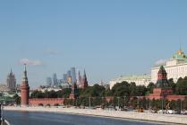 Москва-Сити на фоне Кремля