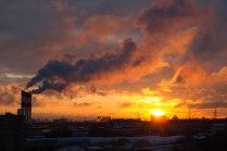 Рассвет над Москвой