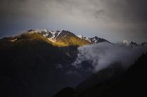 Вершины на закате