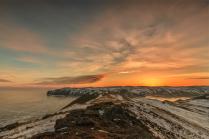 Закат на озере Байкал. Март 2016.