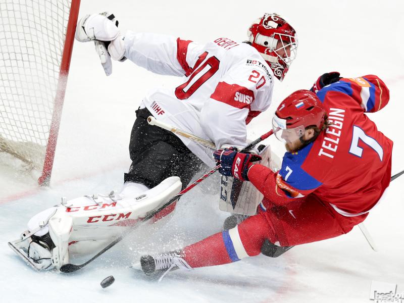 Атака хоккеиста Телегина