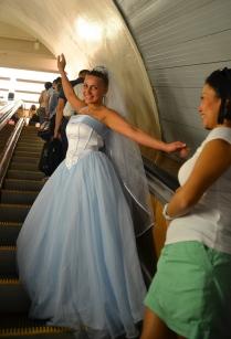 На свадьбу на метро