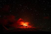 Под звёздным небом Камчатки.