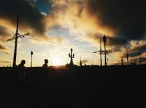 Суматоха Северной столицы в холодных лучах заката