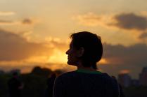 Портрет незнакомки на закате