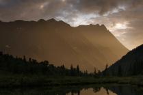 Безымянные вершины в вечернем свете
