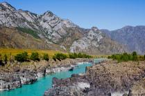 Тельдекпенские пороги бирюзовой реки Катунь