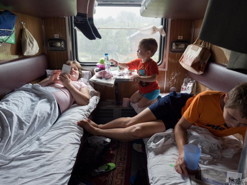 На поезде всей семьей