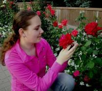 Розы и я!