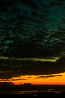Закат над Финским заливом. Васильевский остров, Санкт-Петербург