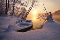 Рассвет на Белом озере
