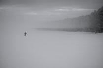 Одиночный лыжник
