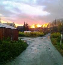 Осень в Комаровке. Закат.