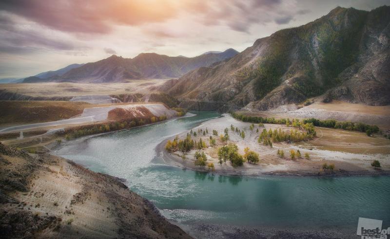 Слияние двух рек, Чуи и Катуни!