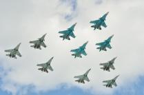 Военная авиация на репетеции парада Победы