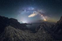 Ночная панорама с горы Караул-Оба.