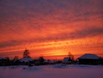 Закат над городом Верхняя Салда