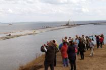Вид на строительство Керченского моста