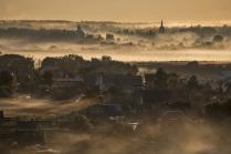 Туманный рассвет в Боровске